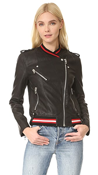 Blank Denim Frisky Business Moto Jacket In Frisky Business