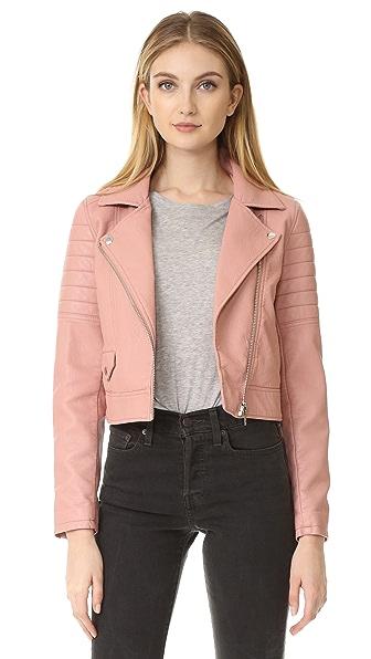 Blank Denim Pretty in Pink Moto Jacket