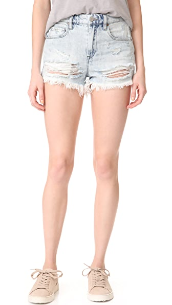 Blank Denim Love Stoned Cutoff Shorts In Love Stoned
