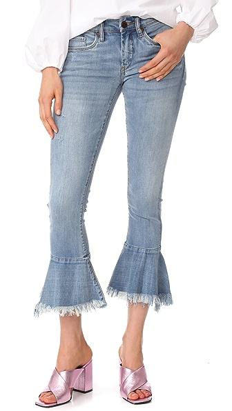 Blank Denim Trumpet Flare Jeans In Fancy That