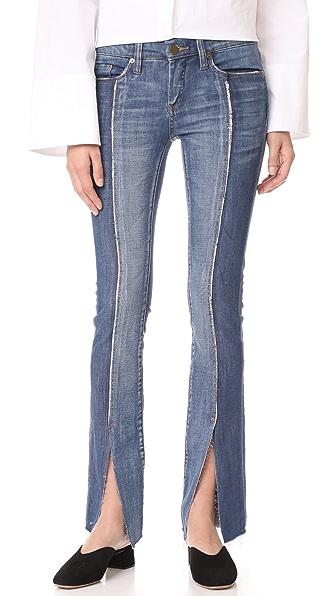 Blank Denim Slit Front Skinny Jeans