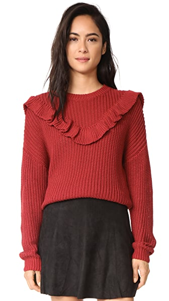 Blank Denim Poppy Sweater - Red