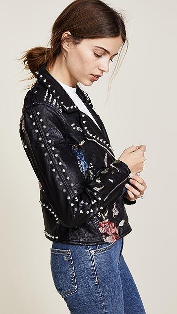 Blank Denim Budding Romance Moto Jacket