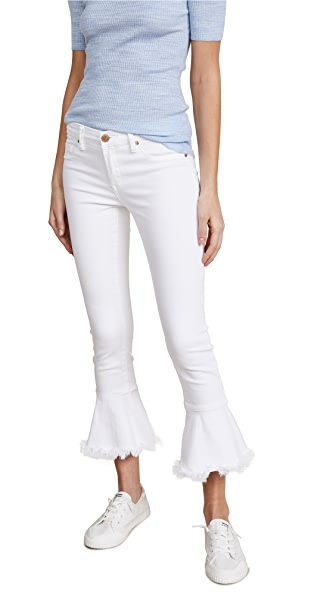 Blank Denim Trumpet Flare Jeans In Great White