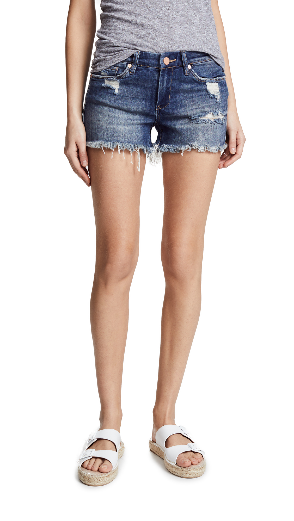 Blank Denim Cutoff Shorts In Alter Ego