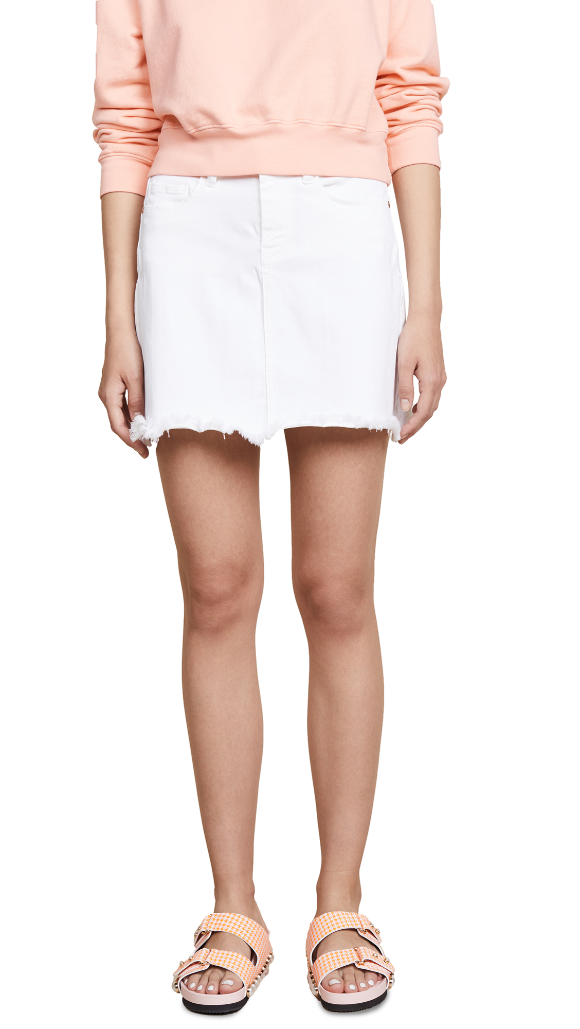 Blank Denim Denim Miniskirt In Great White