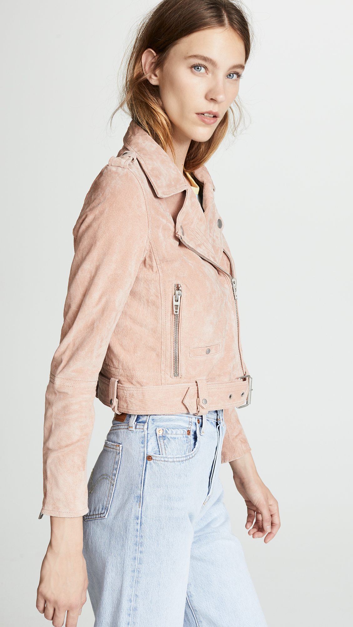 6169cd90e Blank Denim Candy Crush Suede Moto Jacket | SHOPBOP