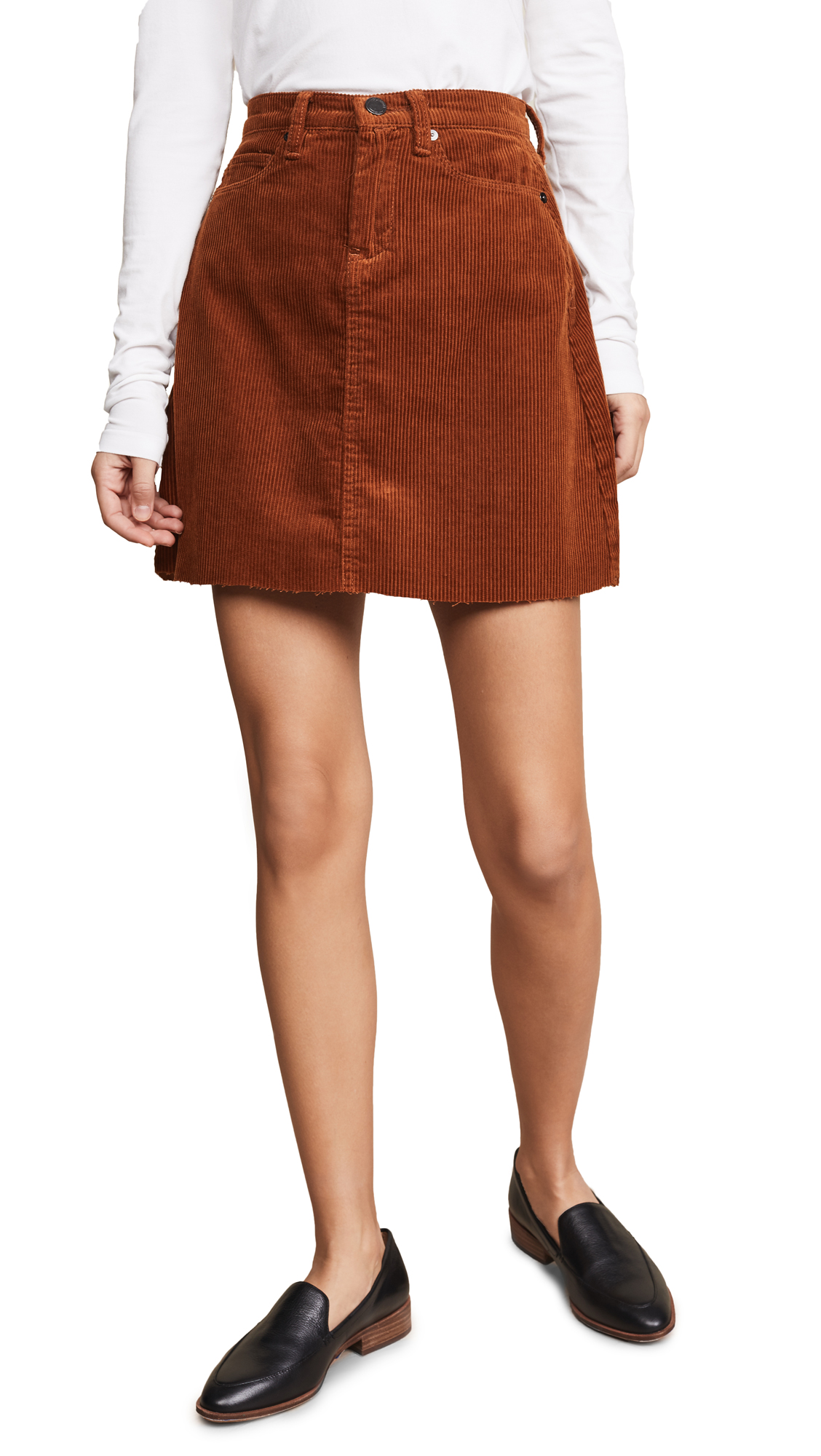 BLANK DENIM Corduroy Mini Skirt in Clockwork Copper