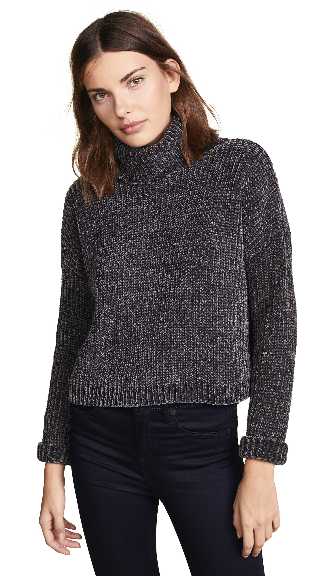 BLANK DENIM Chenille Sweater in Mica