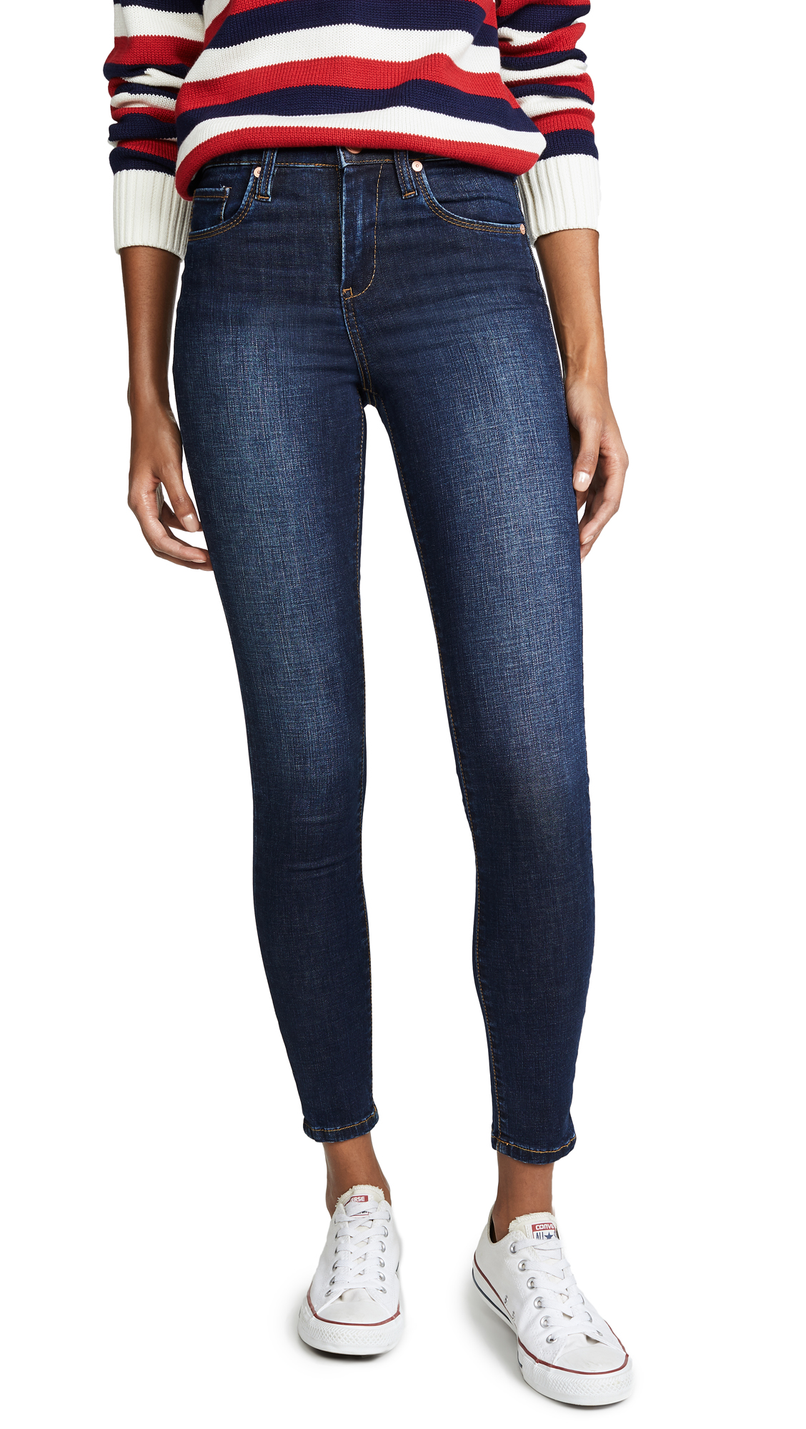 The Great Jones High Rise Skinny Jeans