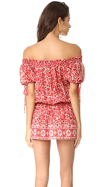 Bell Red Floral Mini Dress