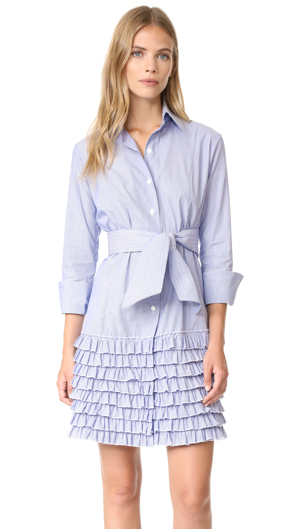 Bell Ruffle Shirtdress