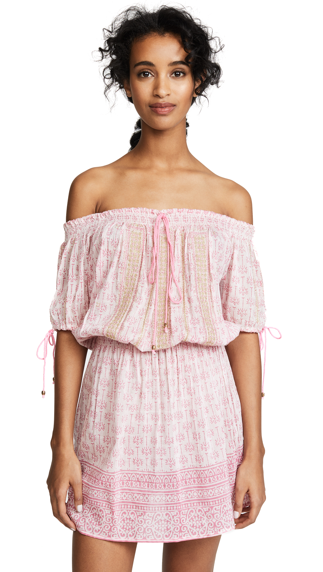 BELL PRINTED OFF SHOULDER DRESS