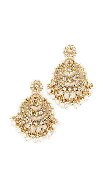 Blossom Box Chandelier Imitation Pearl Earrings
