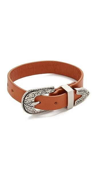 B-Low The Belt Bri Bri Single Wrap Bracelet - Cognac/Silver at Shopbop