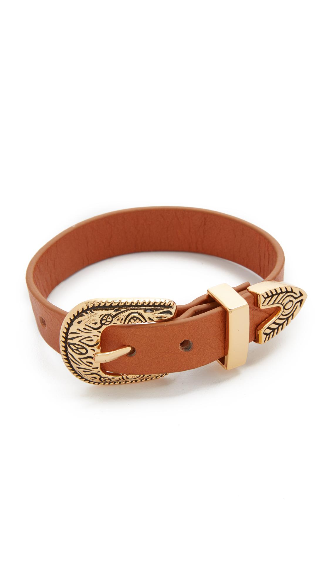 B-Low The Belt Bri Bri Single Wrap Bracelet - Gold/Cognac at Shopbop