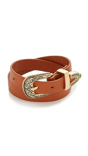 B-Low The Belt Bri Bri Double Wrap Bracelet - Gold/Cognac at Shopbop