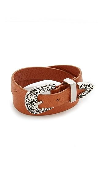 B-Low The Belt Bri Bri Double Wrap Bracelet - Cognac/Silver at Shopbop
