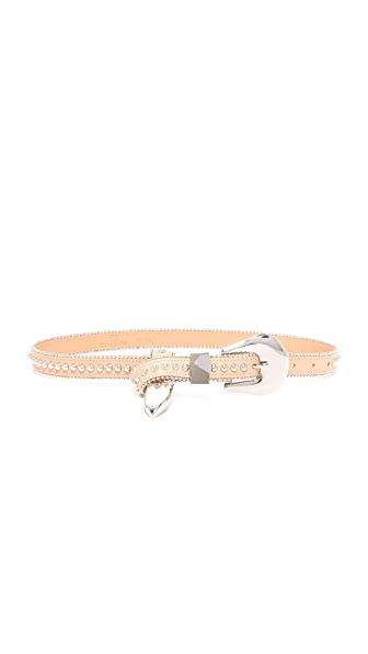 B-Low The Belt Barcelona Belt - Almond/Silver