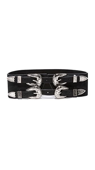 B-Low The Belt Baby Frank Corset Belt - Black/Silver