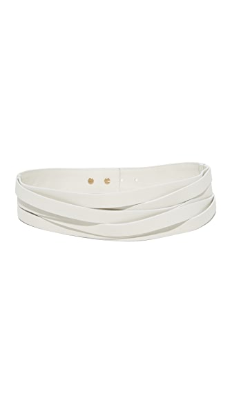 B-Low The Belt Nikki Belt In Pearl/Gold