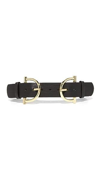 B-Low The Belt Blake Double Belt - Black/Gold