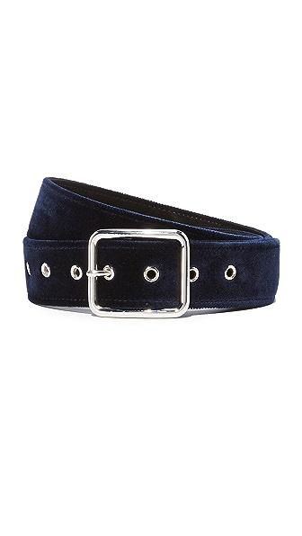 B-Low The Belt Ramona Velvet Belt - Navy/Silver