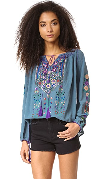 BLUE BOHEME Raffaela Embroidered Tunic
