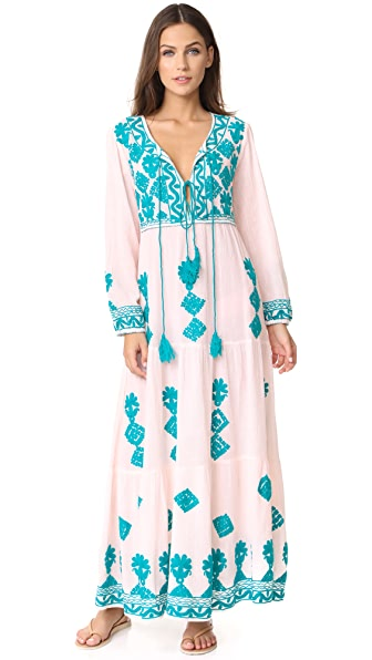 BLUE BOHEME Elysia Dress - Pink/Turquoise