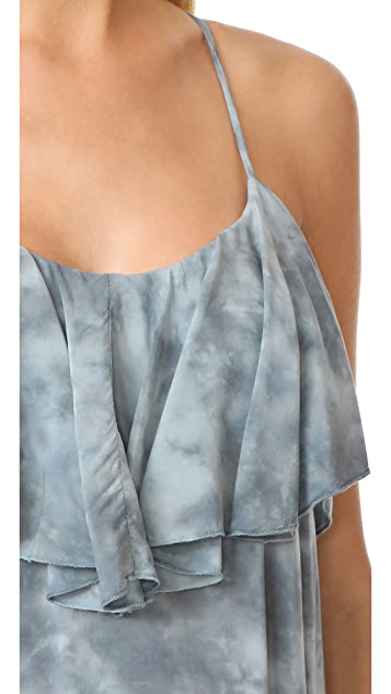 Blue Life Enchanted Tie Back Ruffle Dress