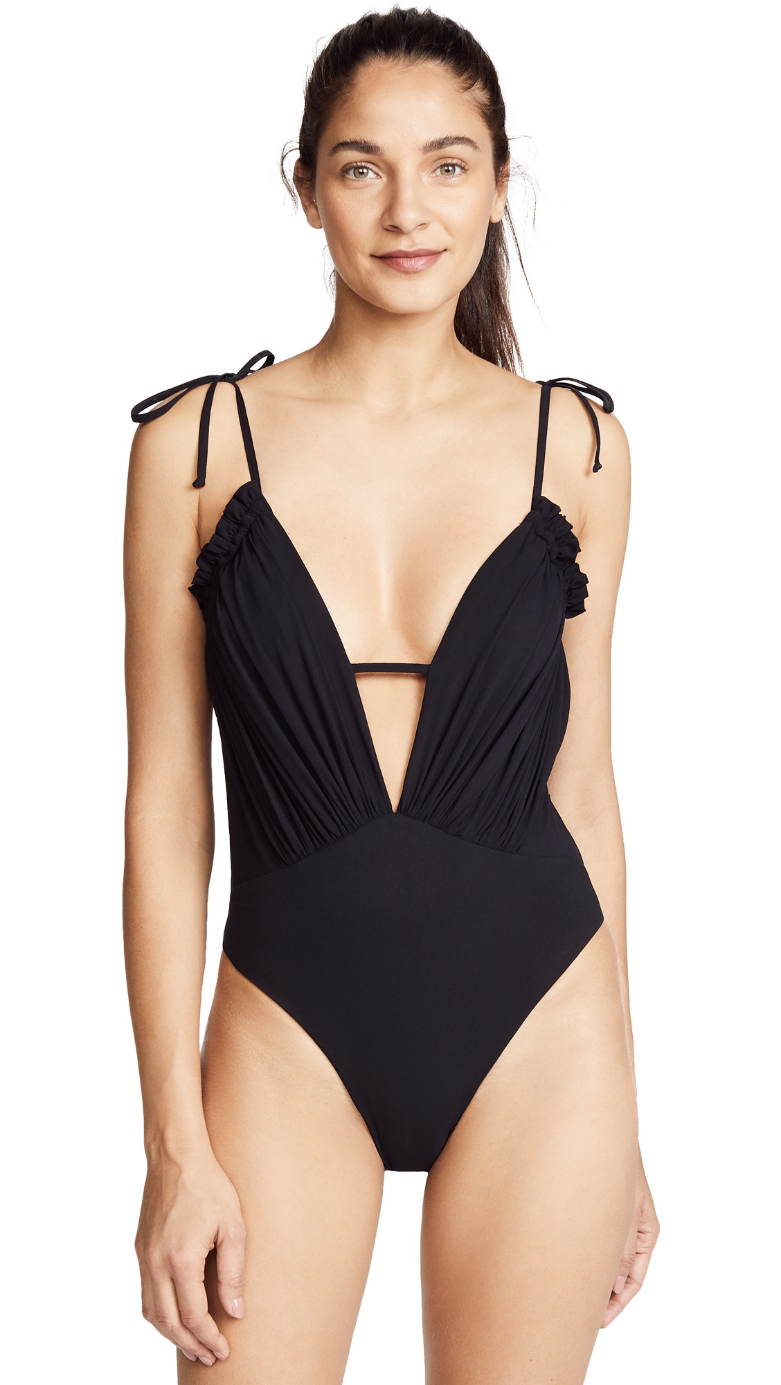 BLUE LIFE Exotica Ruffle Swimsuit in Black