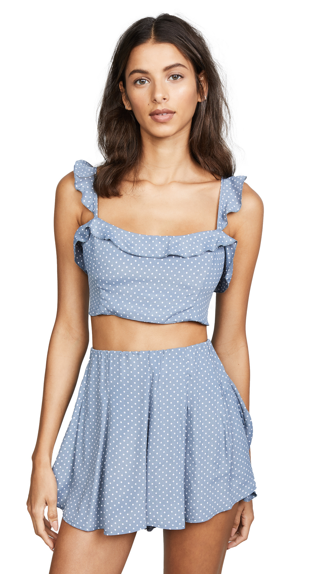 BLUE LIFE Perfect Crush Top in Mystic Blue Dot