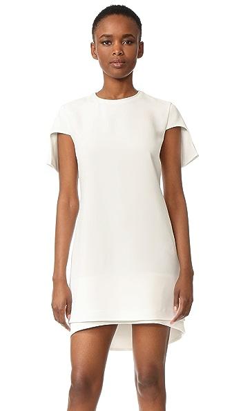 Brandon Maxwell Cap Sleeve Mini Dress