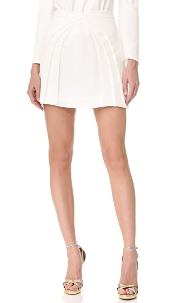 Brandon Maxwell Layered Miniskirt