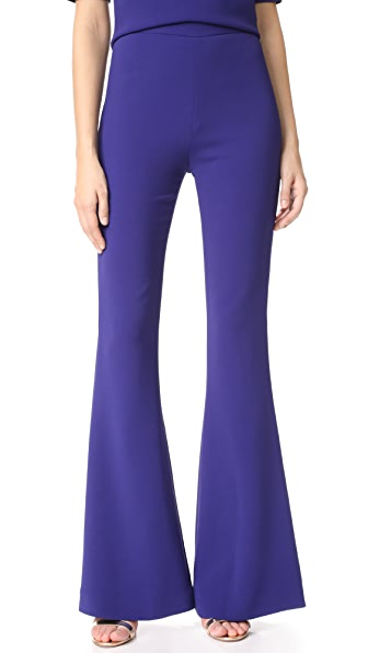 Brandon Maxwell Flare Pants - Royal