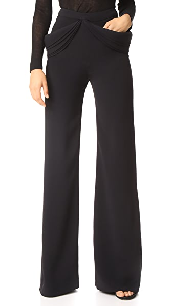 Brandon Maxwell Detailed Pocket Trousers In Black