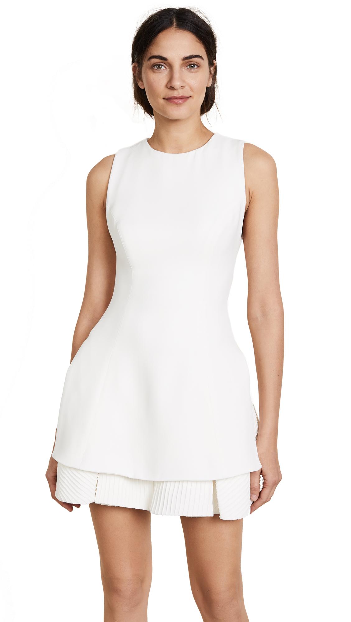 Brandon Maxwell Tennis Dress - Ivory