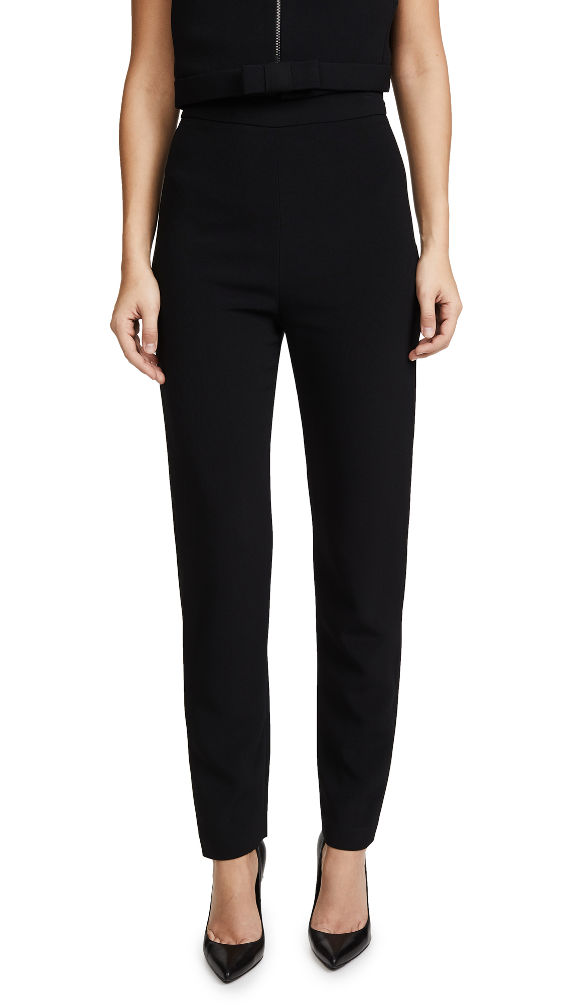 Brandon Maxwell Classic Cigarette Pants - Black