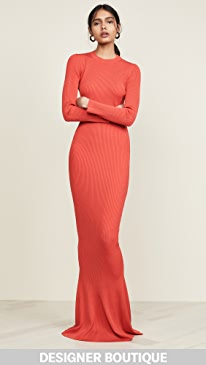 80d0fd131f20 Designer Red Long Sleeve Maxi Dresses   SHOPBOP