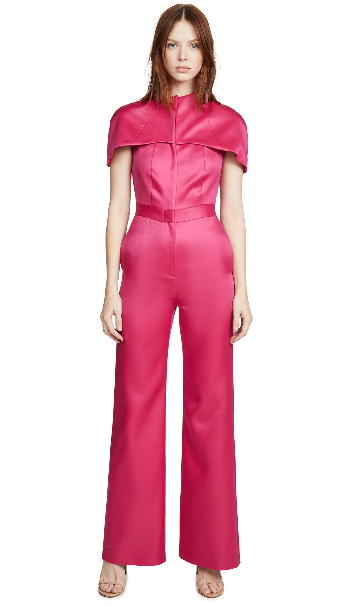 Buy Brandon Maxwell online - photo of Brandon Maxwell Silk Cap Sleeve Jumpsuit
