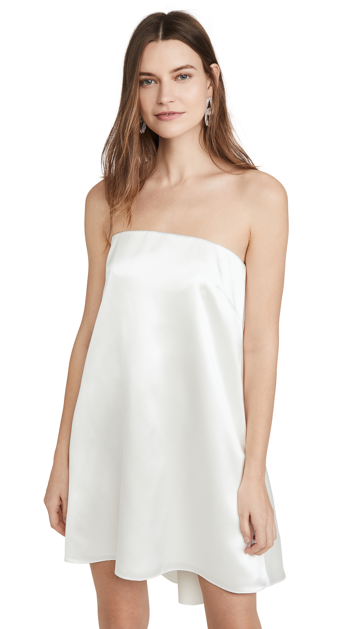 Buy Brandon Maxwell Crepe Back Satin Cocktail Dress online beautiful Brandon Maxwell Clothing, Dresses