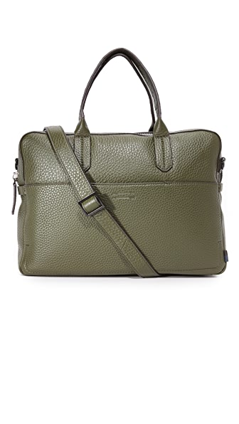 Uri Minkoff Fulton Pebbled Leather Briefcase