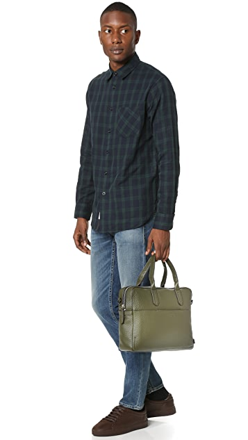 Uri Minkoff Fulton Pebbled Leather Briefcase