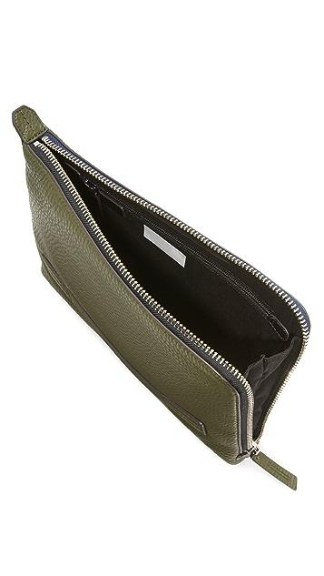 Uri Minkoff Warren Pebbled Leather Pouch