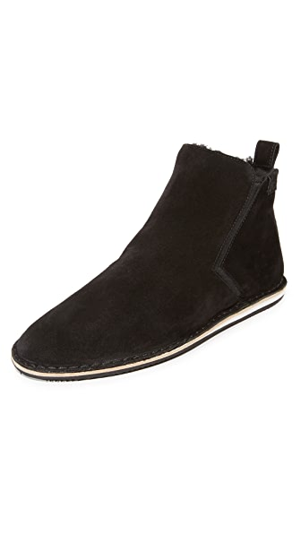 Uri Minkoff Ulrich Shearling Lined Mid Top Boots