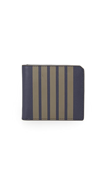 Uri Minkoff Striped Leather Vesper Wallet