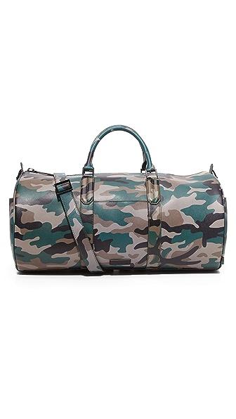 Uri Minkoff Camo Saffiano Leather Gary Duffel Bag