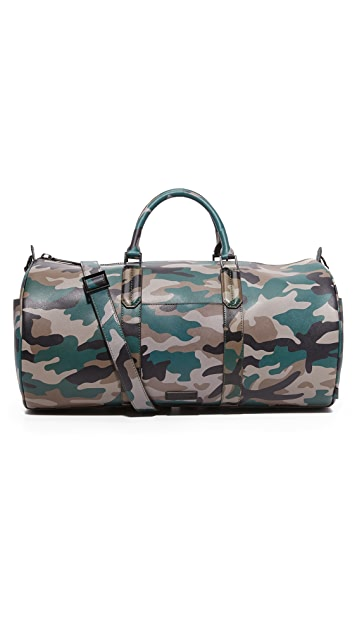 Uri Minkoff Camo Saffiano Leather Gary Duffel Bag