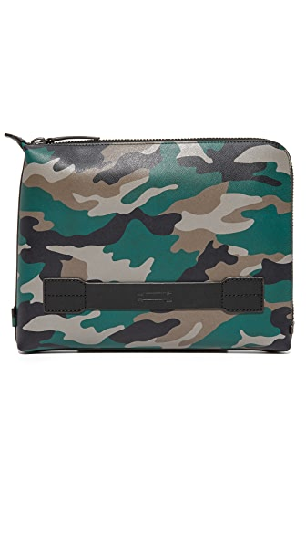Uri Minkoff Camo Saffiano Leather Warren Pouch