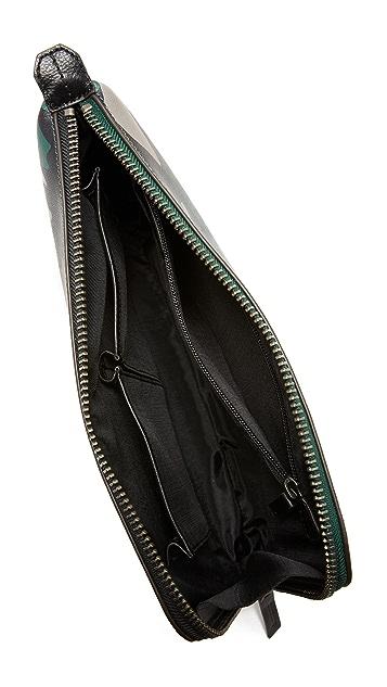 Uri Minkoff Camo Saffiano Leather Warren Pouch